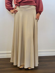 Elizabeth Full Modest Maxi Skirt in Cream