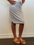 Traveling Skirt in Blue Stripe