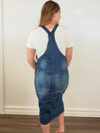 Lena Overall Jumper Dress Vintage Wash