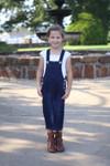 Lena Overall Jumper Dress Dark Wash Kids