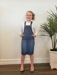 Lena Overall Jumper Dress Vintage Wash Kids