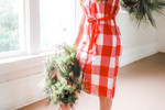 Merry Little Dress in Red Check