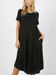 Summer Special T Shirt Dress Black
