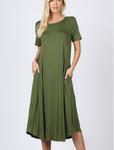 Summer Special T Shirt Dress Olive