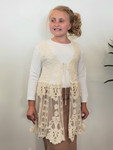 All Dressed Up Girls Lace Tie Vest