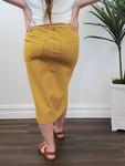 Double Knit Skirt in Mustard *Final Sale*