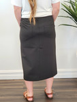 Double Knit Skirt in Black