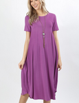 Summer Special T Shirt Dress Dark Mauve