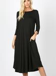 T Shirt Swing Dress Black *Long Sleeve*