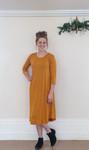T Shirt Swing Dress Desert Mustard *Long Sleeve*