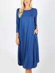 T Shirt Swing Dress Sapphire