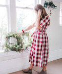 Plaid Crush Burgundy Buffalo Check Dress