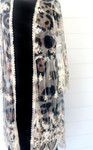 Animal Print Lace Kimono