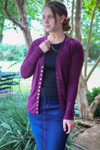 Courtney Snap Cardigan in Plum
