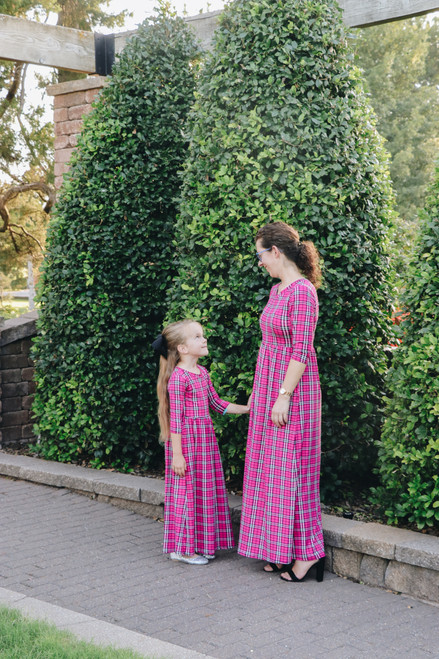 Perfectly Plaid Maxi Dress in Pink *Womens*