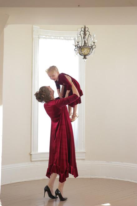 Willow Swing Dress Burgundy Velvet *Womens*
