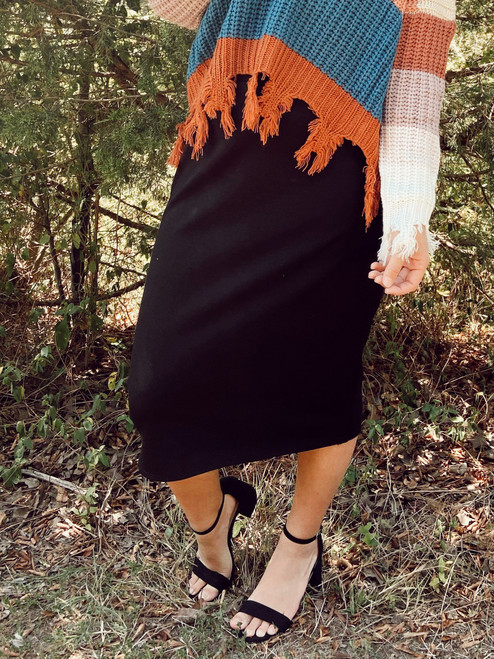Klassy Girl Original Pencil Skirt *Black Ponte*