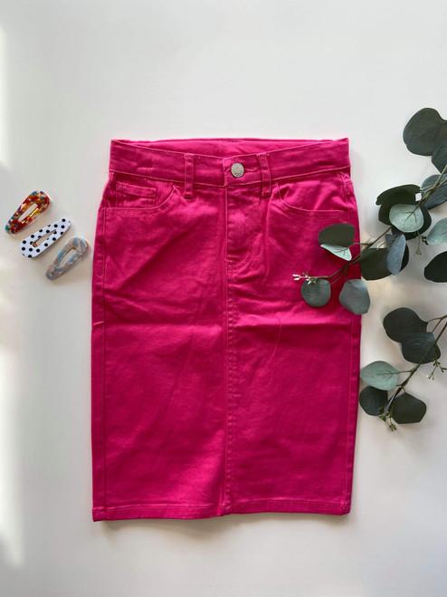 Colored Denim Skirt Pink *Girls*