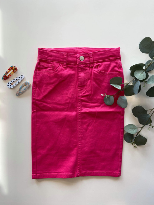 Colored Denim Skirt Pink *Girls*