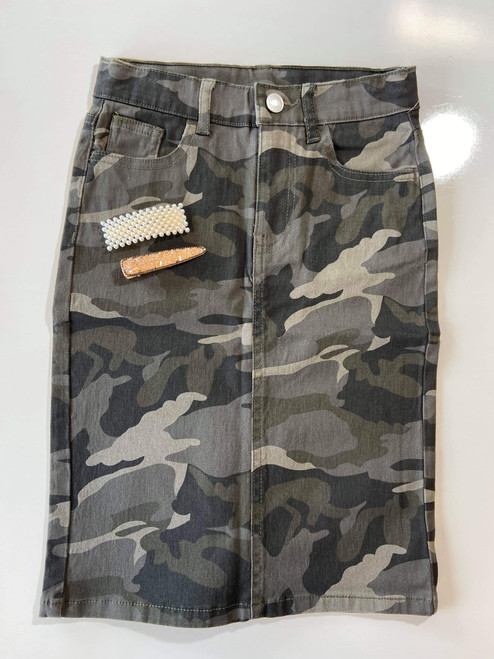 Colored Denim Skirt Camo *Girls*