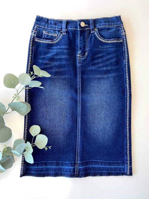 Sadie Denim Skirt Dark Wash *Girls*