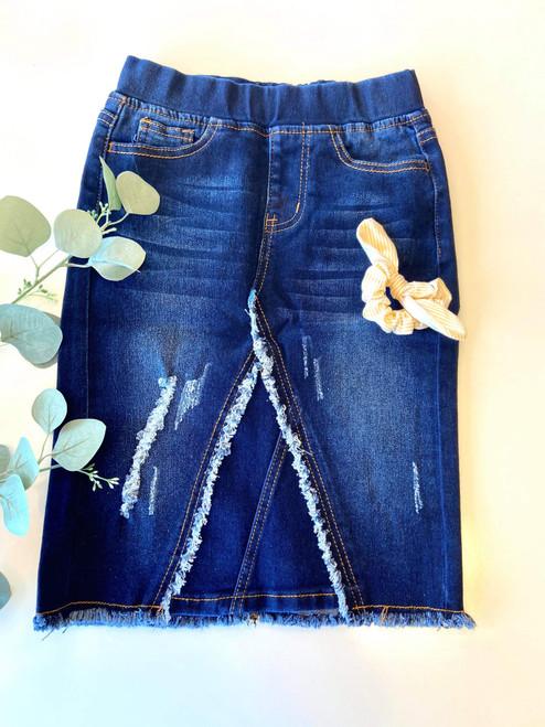 Julie *Girls* Modest Denim Skirt