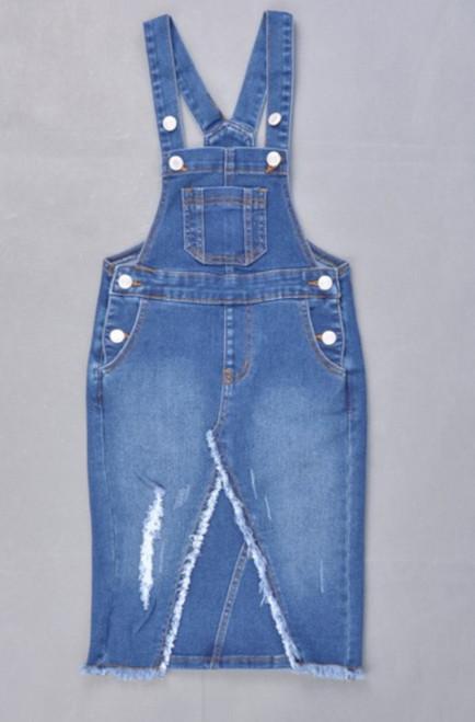 Riley Overall Jumper Dress Med Wash *Girls*
