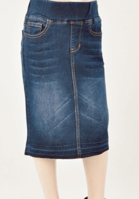 Jennifer Dark Wash Denim Skirt *Girls*