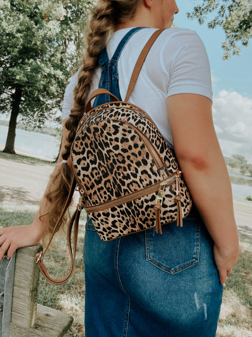 Animal Print Leopard Backback