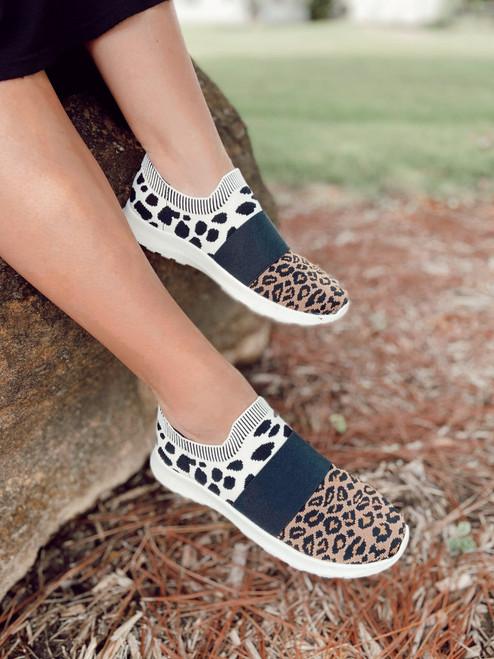 Cheetah Print Sport Tennis Shoes