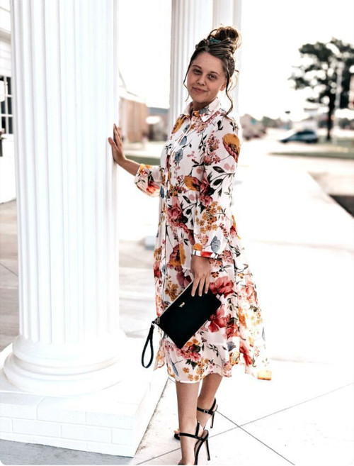 You Were Meant For Me Floral Tiered Dress