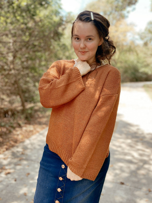 Pumpkin Spice Season Oversize Sweater