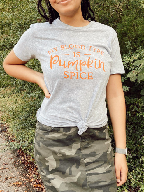 My Blood Type is Pumpkin Spice Graphic Tee Final Sale
