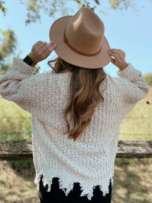 Felt Hat in Tan
