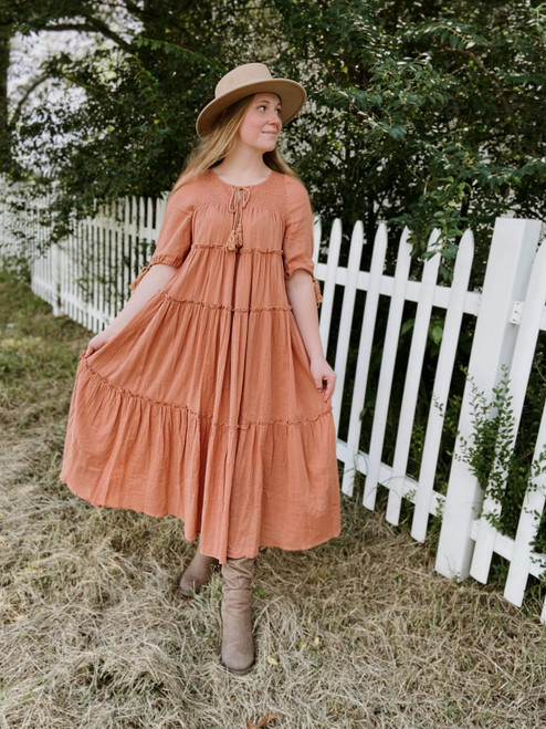 Wishful Thinking Dress *Light Terracotta*