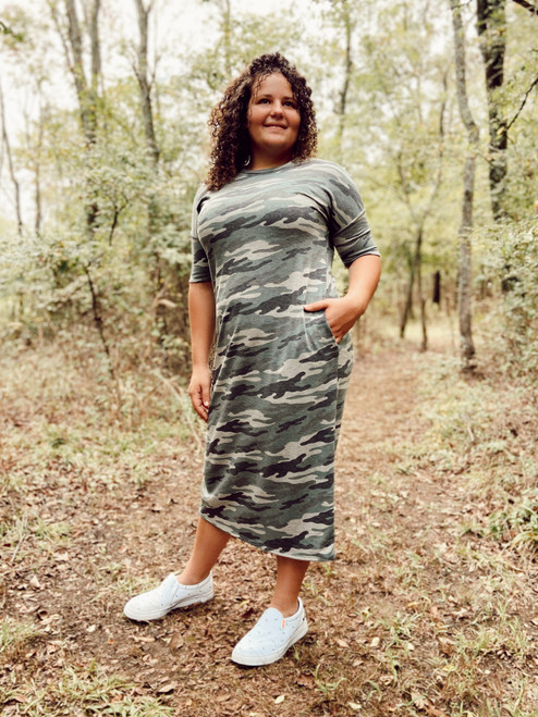 Comfy in Camo Dress