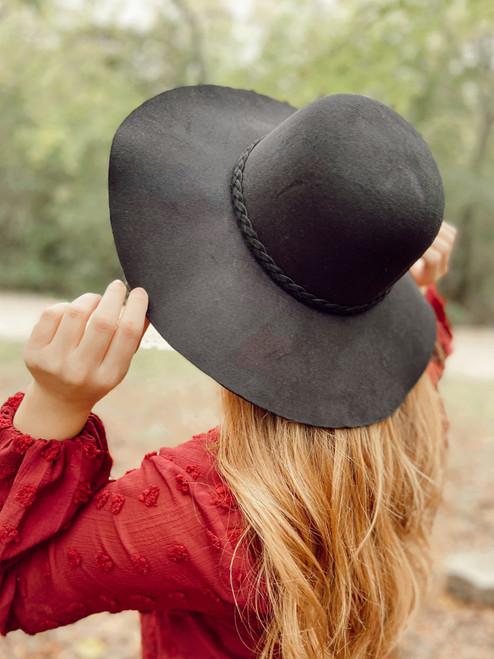 Felt Hat in Black