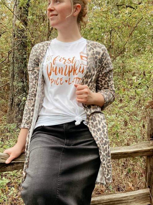 Vintage Leopard Print Cardigan Kimono