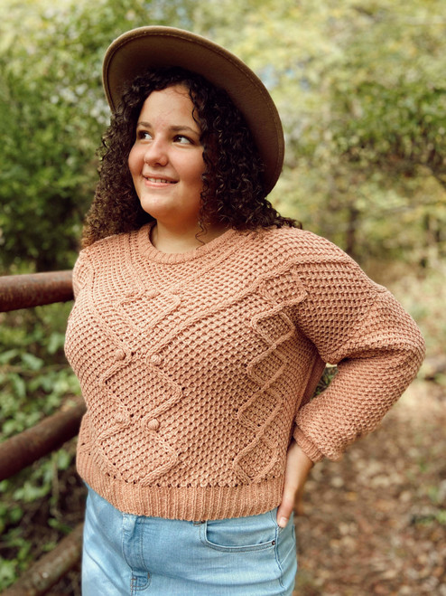 Perfect PomPom Sweater *Light Terracotta* FINAL SALE