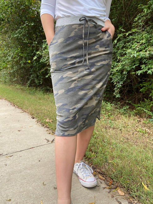 Camo Drawstring Weekend Skirt