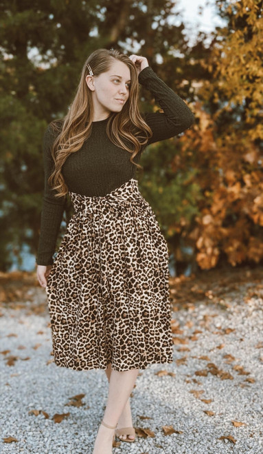 Twice as Pretty Leopard Print Dress *Olive* Final Sale