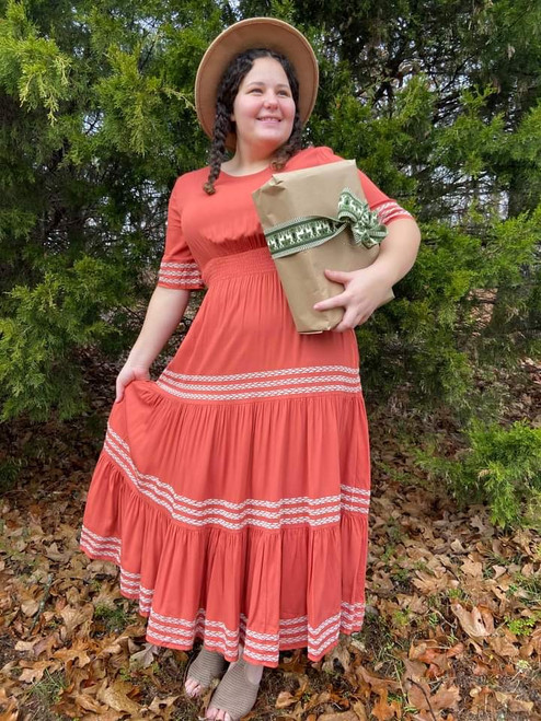 Laura Tiered Twirl Dress *Rust*
