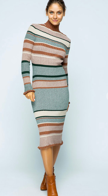 Riley Ribbed Sweater Dress