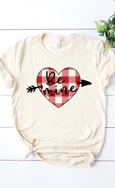 Be Mine Heart Graphic Tee