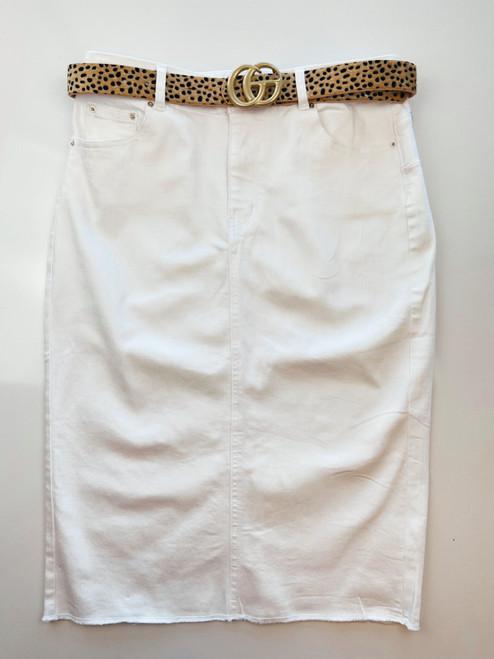 Emma Denim Skirt *White*