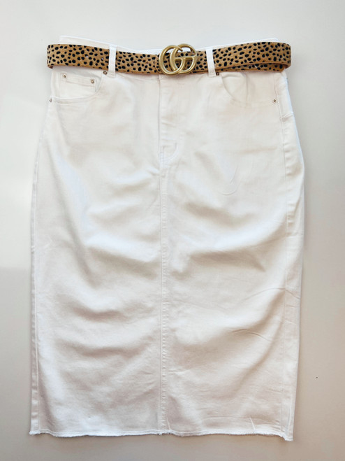 Emma Denim Skirt *White*