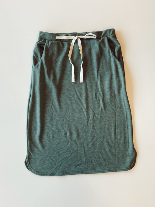 Drawstring Sport Skirt *Heather Green*
