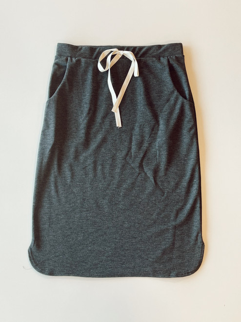 Drawstring Sport Skirt *Heather Charcoal*