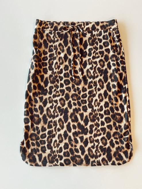 Drawstring Sport Skirt *Leopard*