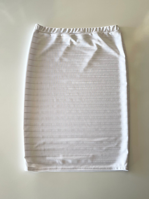 Klassy Girl Original Pencil Skirt Jacquard Stripe *White*